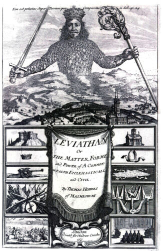 Leviathan by Thomas Hobbes 1651 Cover of the book Leviathan art print