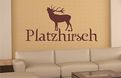 ★★*806 Wandtatoo Wandgestaltung Spruch Hirsch Platzhirsch Geschenk ★★110x55cm