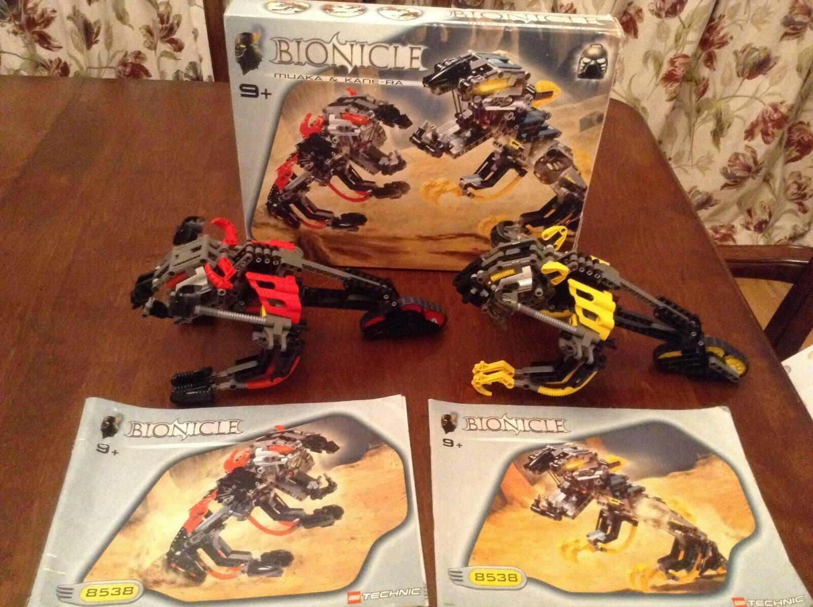 LegoTechnic Bionicle 8538 Muaka & Kane-Ra, 9 + ans RARE   pas cher et de la mode