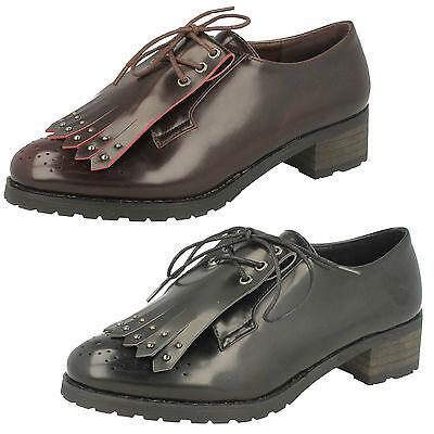 **Venta** Damas Spot On Encaje Zapatos Formales GB Tallas 4-8 f9818