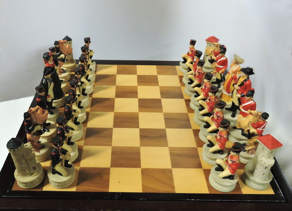 Battle of Waterloo - Historically Themed Chess Set  Ceramic Historical Chessmen