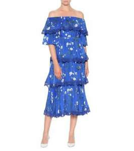 BNWT-Self-Portrait-Floral-printed-Crepe-Midd-Dress-Size-UK-14