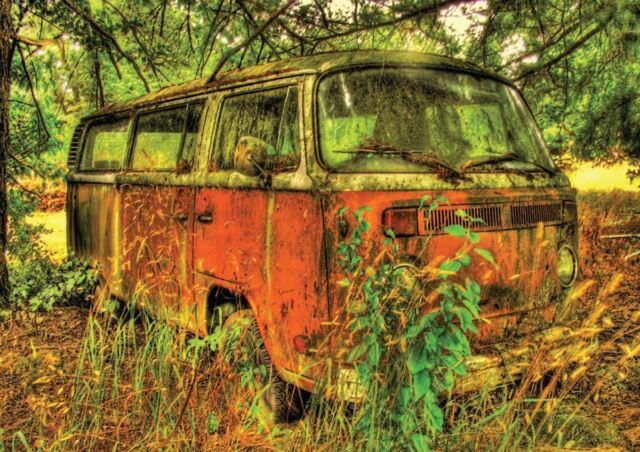 VW VOLKSWAGEN OLD FOREST ART NEW ART PRINT POSTER YF1439