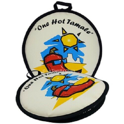 """12/"""" Premium Tortilla Warmer Keeps Tortillas FRESH AND WARM FOR OVER 1 HOUR!"""