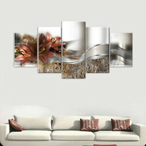 5-Pcs-Unframed-Modern-Art-Oil-Painting-Print-Canvas-Picture-Home-Wall-Room-Decor