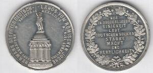 Lippe-Detmold-1875-Vollendung-Hermannsdenkmal-Zinnmedaille-Denkmal-Schrift-im
