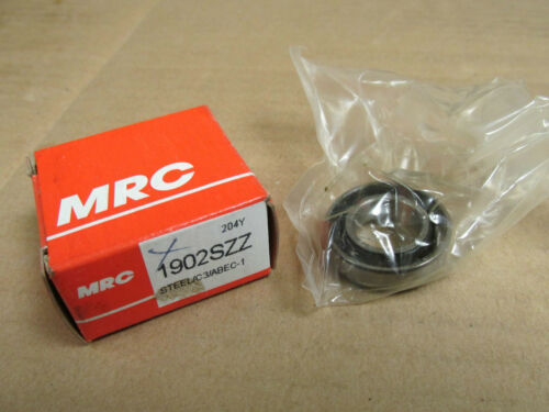 NIB MRC 1902SZZ BEARING RUBBER SEALED 1902S ZZ 1902 SZZ 15x28x7 mm