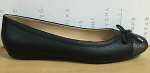 e767cb182aa Image is loading GEOX-WOMEN-039-S-FLAT-SHOES-LEATHER-BLACK-