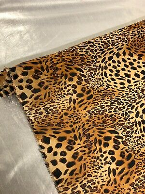 "1 mtr baby pink leopard animal print dress chiffon fabric..58"" wide 147cm"