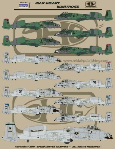 48017 Speed Hunter Graphics Decal 1//48 War-Weary Warthogs