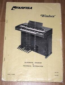 Farfisa Windsor Original Service Manual Repair Schematique Schema Schaltplan