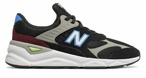Details about New Balance Men's X 90 Shoes Black With Blue