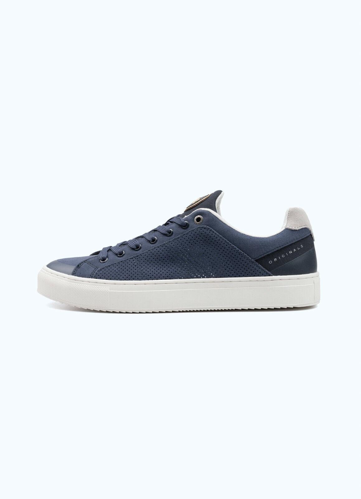 Manturnschuhe Colmar Bradbury Out Schuhe Leder Mikroperforiert Blau Weiss Neu