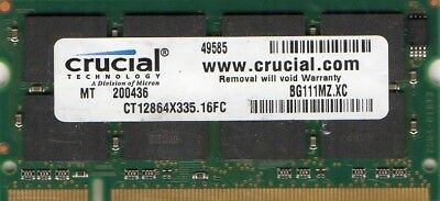 1GB Apple PowerBook iBook iMac A1010 A1013 A1046 A1052 A1054 A1094 DDR Memory