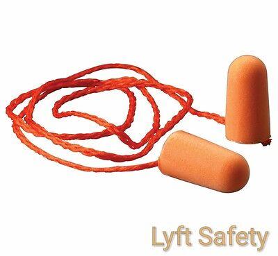 Ear Plugs 3M 1100 Noise Reduction 29 dB Orange Foam Disposable 25//PACK