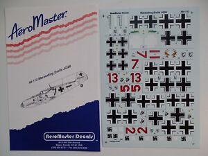 """Aeromaster Decals 1/48 Bf 109 E """"marauding Emils Jg26"""" Facile à Utiliser"""
