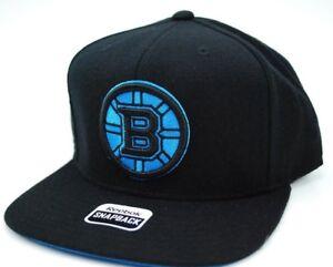 Boston Bruins Reebok NK57Z NHL Neon Blue Team Logo Snapback Hockey ... 1c9182522ac