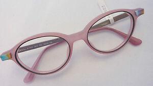 Damenbrille-ausgefallen-matt-rosa-bunte-Buegel-cateye-Glasform-Gr-M-Pastellfarbe