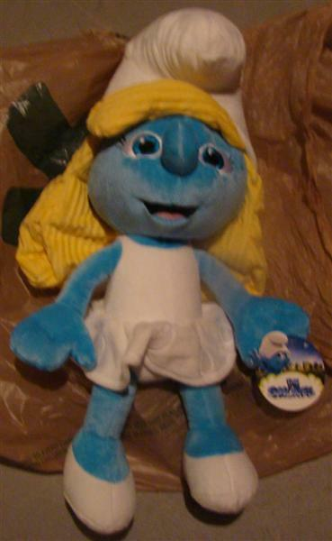 Smurfs smurfette plush figure 21  inch figure movie new with tags large