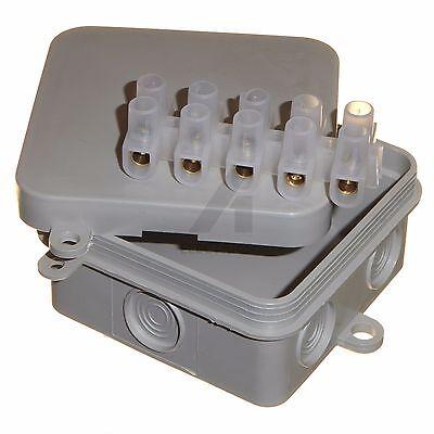 Stetig 2 X Cable Wire Outdoor Ip44 Junction Box 65 X 65 X 30mm Cctv Lighting Electrical BerüHmt FüR AusgewäHlte Materialien, Neuartige Designs, Herrliche Farben Und Exquisite Verarbeitung