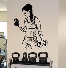 Fitness Gym Wall Decal Vinyl Sticker Female Fitness Sport Home Wall Art Decor 1f