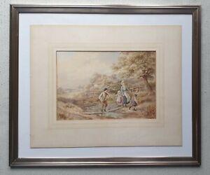 Antique-original-Myles-Birket-Foster-1825-1899-signed-painting-similar-to-30-000
