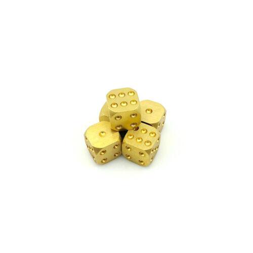 Details about  /EDC solid Brass Dice Bar Supplies Necessary golden copper mahjong sieve 5pcs