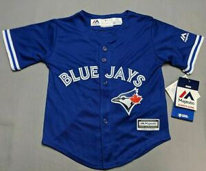 Majestic MLB Toronto Blue Jays Coolbase Blank Infant/Kids Blue Jersey