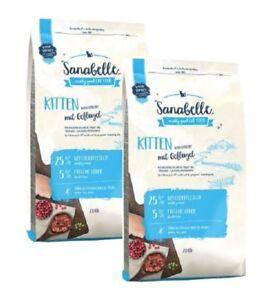 2x10kg de nourriture pour chat Sanabelle Kitten