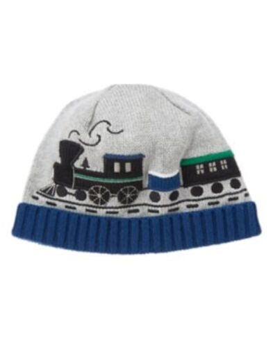 GYMBOREE ALL SPRUCED UP GRAY w// TRAIN SWEATER BEANIE HAT 6 12 2T 3T NWT