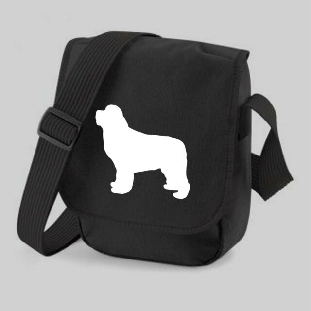 Newfoundland Dog Bag Silhouette Messenger Shoulder Bags Newfie Handbag Gift