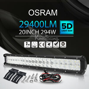 5D-OSRAM-20Inch-294W-LED-Work-Light-Bar-Flood-Spot-Offroad-Driving-Lamp-4WD-SUV
