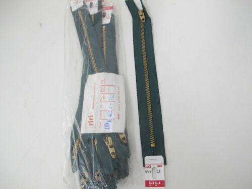 10 x Talon Reißverschluss 20 cm Grün  Metallzähne Schieber Metall **4**