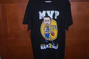 Golden-State-WARRIORS-Shirt-Black-Size-S-Men-MVP-CURRY-DUB-CITY-BACK2BACK-NWT