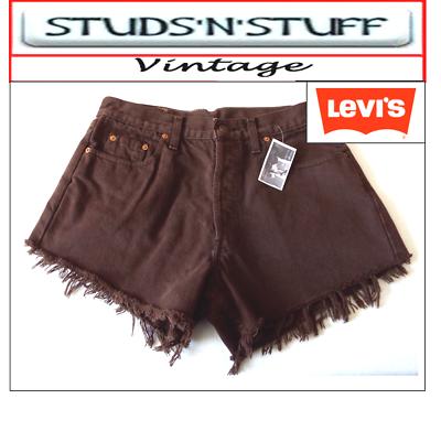 """Levis Vintage Da Donna Vita Alta Pantaloncini Taglia 32"""" Approssimativamente Taglia 12 (a3)-mostra Il Titolo Originale Sangue Nutriente E Regolazione Dello Spirito"""
