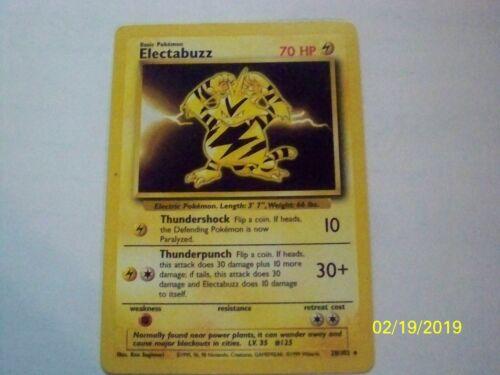 1999 Pokemon Base Set electabuzz  1st Edition #20//102