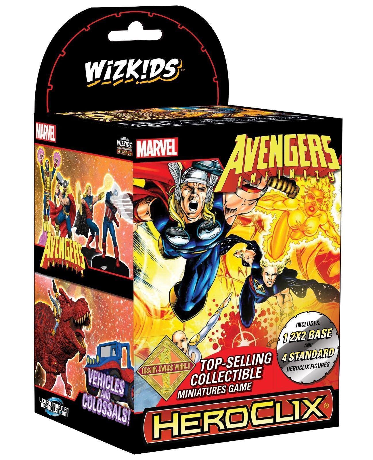 NUOVO Marvel HeroClix  Vendicatori Infinity Booster Brick (10) FACTORY SEATED