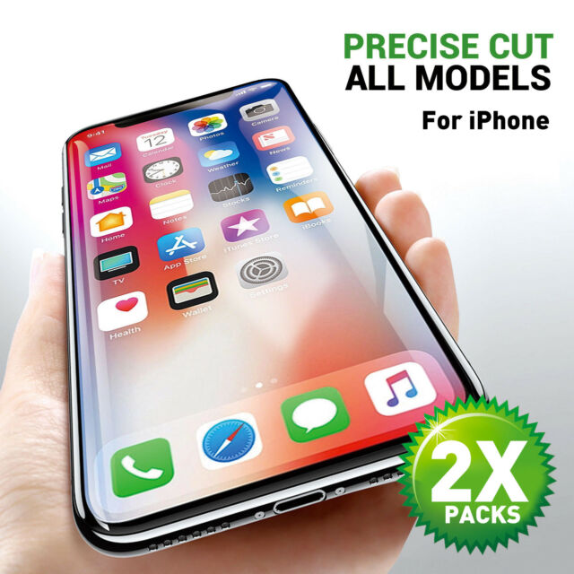 finest selection 974d3 336e0 2 X Tempered Glass Screen Protector For Apple iPhone X XS MAX 8 7 6 Plus 6S  5 XR