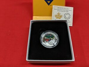 2014 $10 Silver Proof Coin Canada Iconic Superman Comic Book Covers 1938 Action