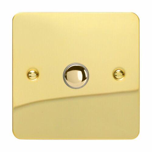 Varilight xfvp 1 Ultraflat laiton poli 1 Gang 6 A 1 ou 2 Way Impulse Switch