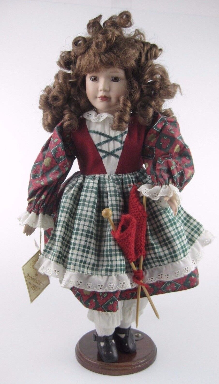 Porcelain Doll with Fine Certificate Soft Expressions Genuine Fine with Bisque Porcelain f4fb50