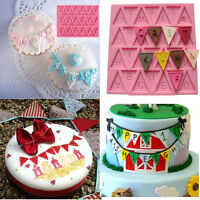 Silicone Fondant Mat Cake Sugar Craft Decor Mold Letter Pattern Mould Bake Tool