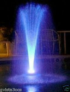 Floating Water Fountain W White Led Lights Amp 600 Gph Pond