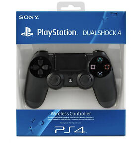 CONTROLLER PS4 WIRELESS Senza Fili NERO ORIGINALE PER PLAYSTATION 4 /3 JOYSTICK