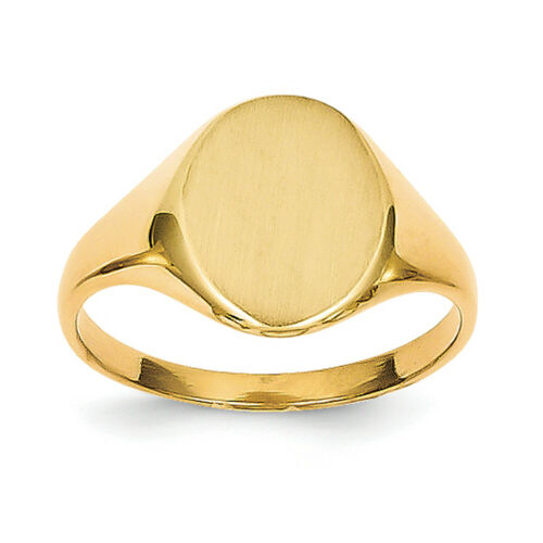 14k Yellow Gold Signet Ring RS101 Size 5