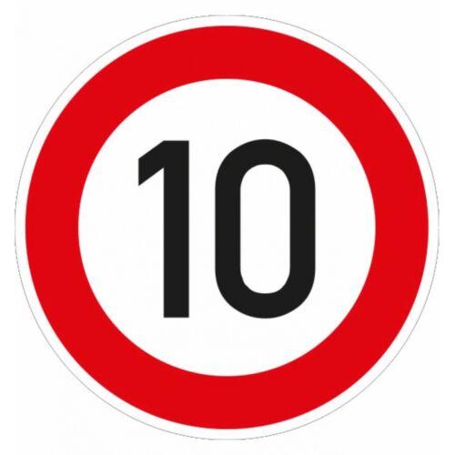 ADCO Verkehrszeichen 10 km//h 274-10 Ronden 600mm RAL