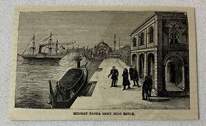 1885-magazine-engraving-MIDHAT-PASHA-SENT-INTO-EXILE-Turkey