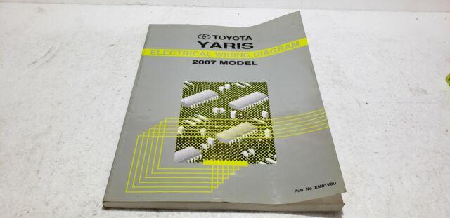 2007 Toyota Yaris Oem Electronic Wiring Diagram Manual Ewd