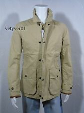 NWT Polo RALPH LAUREN Military/Field Cotton/Leather Jacket/Coat Khaki/Sand sz M