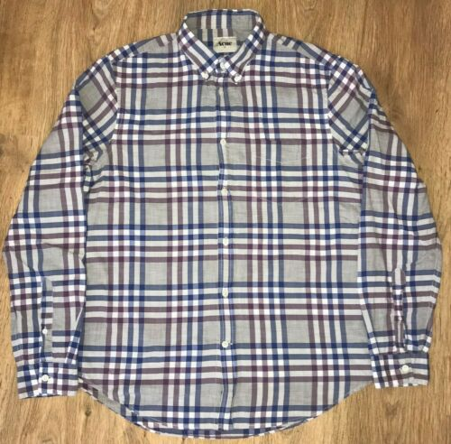 ACNE Straight Check AW10 mens casual shirt size 50